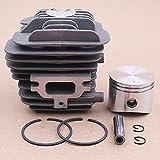 MQEIANG Kit de Clips de Anillo de pistón de Cilindros 45 mm para Emak Oleo Mac 952 EFCO 152 50082012 Piezas de Recambio de Motosierra Herramientas de jardín