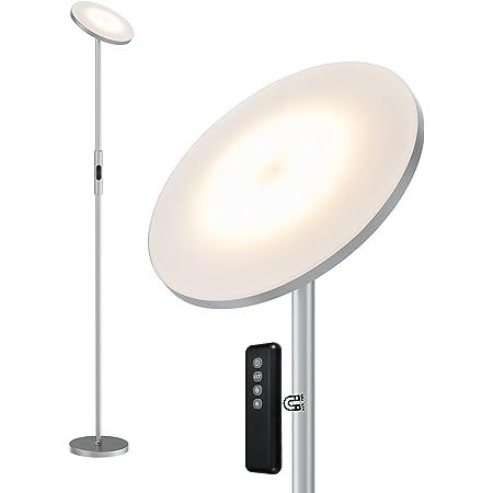 Anten 20W Lampadaire sur Pied Salon Lampe LED 3 Couleurs Température Variable Lampadaire led Salon Luminosité Réglable Lampe Salon avec Télécommande Tactile Lampadaire Chambre Bureau Salon