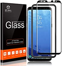 MP-MALL Screen Protector Compatible for Samsung Galaxy S8, Tempered Glass Full Cover Alignment Frame Easy Installation Not Fits for Samsung Galaxy S8 Plus