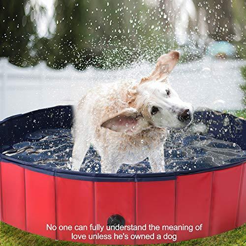 WUYISHAN Foldable Dog Pool Large Pet Bathing Tub Kids Cats Swimming Plastic Pool Backyard Outside Water Game for Kiddie Pets Portable