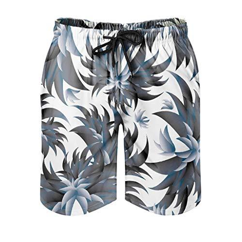 LAOAYI - Pantalones cortos de playa para plantas tropicales, de secado rápido, ligeros y duraderos, pantalones cortos de verano, Primavera-verano 14., Hombre, color blanco, tamaño XXXL
