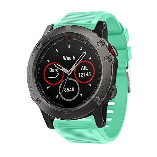 Angersi Correa de repuesto de silicona suave de liberación rápida de 26 mm, compatible con Garmin Fenix 5x/Fenix 5x Plus/Fenix 6x/Fenix 6x Pro Smartwatch
