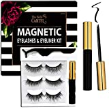 The Belle Cartel Reusable Magnetic Eyelashes and Eyeliner Kit with Applicator | Magnetic Lashes Natural | Magnetic Eyelashes with Liner Natural | Magnetic Lashes with Liner Natural, No Glue (3 Pairs)
