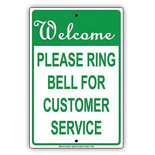 Odeletqweenry metalen bord welkom bel bel voor klantenservice kennisgeving Memo plaat aluminium metalen teken (18