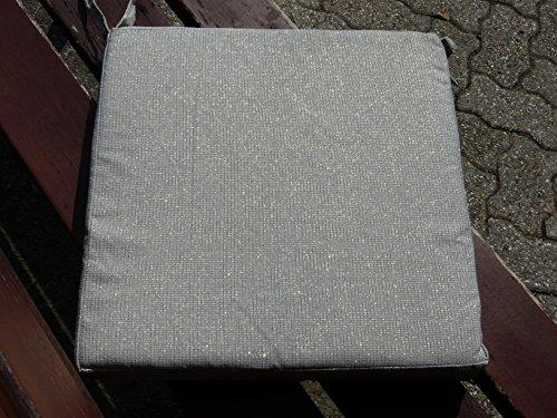 Maffei art800brilli Brilli Coussin en Tissu Polyester Effet, 40X40X5 cm. Fabriqué en Italie. Set de 4 pcs, Gris métallique