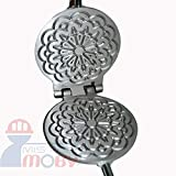 Mistermoby Traditional Italian Cookies Maker Machine Pizzelle Waffle Wafer Krumkake Model 5