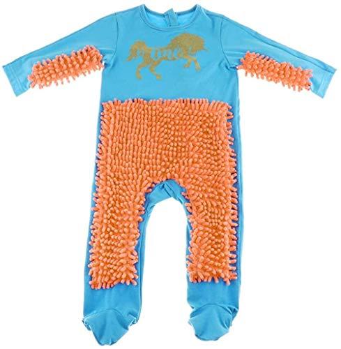 Eastery Baby Kleidung Wischmop Strampler Overall Jungen Jumpsuit Madchen Babykleidung Zum Einfacher Stil Krabbeln Farben Auswahlbar (Color : Blau+Orange, One Size : 90)