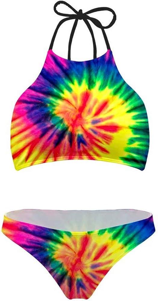 AFPANQZ High Waisted Swimsuit Womens Cute Ruffle Push Up Bikini Bathing Suit