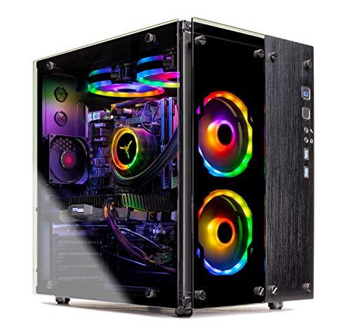 SkyTech Legacy II - Gaming Computer PC Desktop – Intel i7-9700K 8-Core 3.6 GHz, 240mm RGB Liquid Cool, NVIDIA GeForce RTX 2070 Super 8GB, 1TB SSD, 16GB DDR4, AC WiFi, Windows 10 Home 64-bit