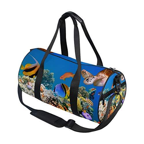 jeansame Ocean Sea Underwater Animal World Fish Tortuga Gimnasio Bolsa de viaje...