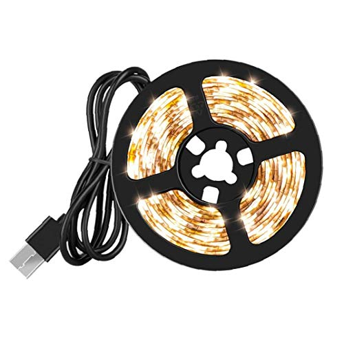 LED Strips Lights Band USB White Waterproof 5V 1M Warm Light for Home Party Christmas Decoration Home Decor Supplies