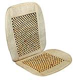 Vip - Respaldo de asiento para coche con bolas de madera, modelo BOLAS NATURAFabricada en rafia + madera.