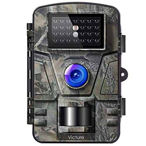 Victure Trail Game Camera 16MP with Night Vision Motion Activated 1080P Hunting Cameras with Low Glow and Upgraded Waterproof IP66 for Outdoor Wildlife Watching