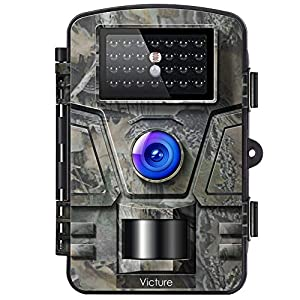 "Victure Wildlife Camera 12MP 1080P Trail Game Camera Motion Activated Infrared Night Vision with 2.4"" LCD Display IP66 Waterproof Design for Outdoor and Home Security"