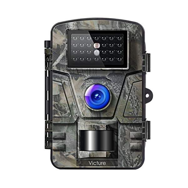 """Victure Wildlife Camera 12MP 1080P Trail Game Camera Motion Activated Infrared Night Vision with 2.4"""" LCD Display IP66 Waterproof Design for Outdoor and Home Security"""