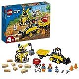 LEGO 60252 Bagger auf der Baustelle City Spielzeug mit Starter-Steinen und Kran, für Kinder ab 4...
