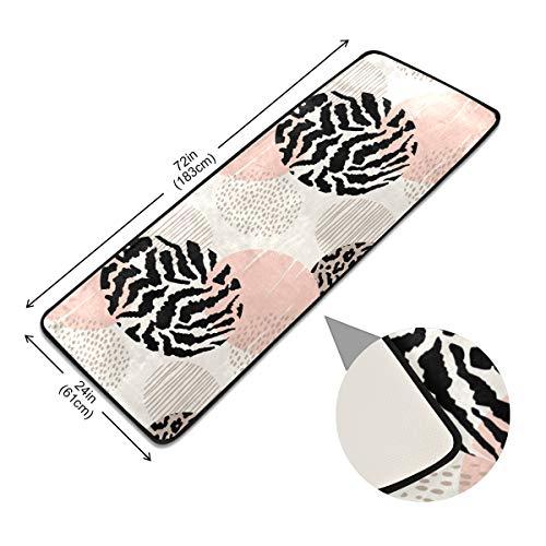 XiangHeFu antislip tapijt tapijt anti-slip pads vloer deurmat rust dier strepen luipaard dot