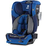 Diono Radian 3QXT 4-in-1 Rear and Forward Facing Convertible Car Seat, Safe Plus Engineering 4 Stage Infant Protection, 10 Years 1 Car Seat, Slim Design - Fits 3 Across, Blue Sky