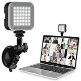 ULANZI Video Conference Lighting Kit, Computer Zoom Light for Video Conferencing with Upgrate Suction Cup, MacBook Laptop Lamp for Remote Working | Zoom Calls | Self Broadcasting | Live Streaming