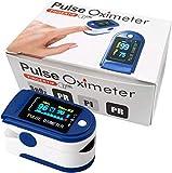 Pulsossimetro da Dito, Saturimetro Dito Professionale,Display OLED Ossimetro...