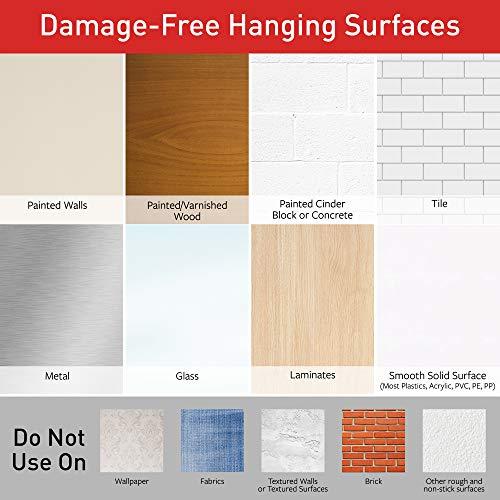Command Universal Frame Hanger, Decorate Damage-Free, Large, 3 hangers, 6 strips, 6 frame stabilizer strips (17047-3ES)