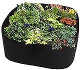 Patatas de Siembra Huerto en Casa Bolsa de jardín rectangular con maceta elevada, 2 piezas, bolsas de jardín para plantar patatas, vegetales, flores, bolsas de plantas, tela de cama de plantaci