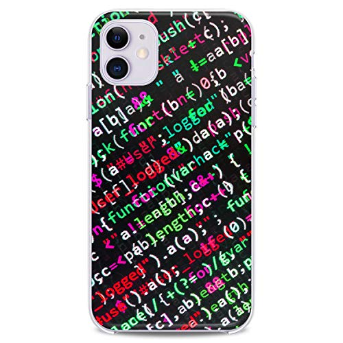 Cavka TPU Case for Apple iPhone 12 Pro Max 2020 Cover 6.7 inch iPh 12 Code Pattern Gift Flexible Silicone Manly Design Slim fit Programmer Lightweight Print Boy Clear Soft Programing Style Male