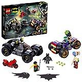 LEGO Super Heroes - Persecución de la Trimoto del Joker, juego de Batman de set de construcción de Batman para los fans de DC, incluye Joker, Robin y Harley Quinn, a partir de 7 años (76159)