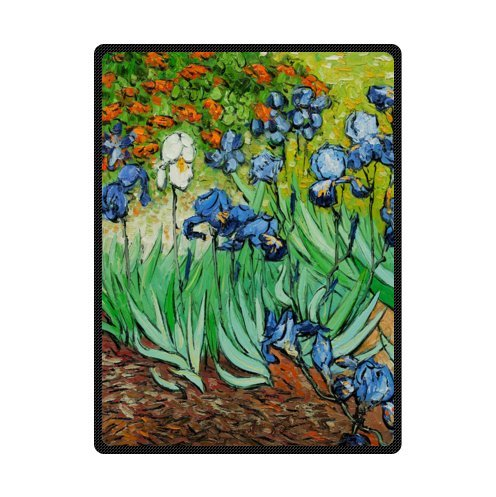 Irises In The Garden By VINCENT Van Gogh, Coperte E Coperte In Pile Soffice Coperta 147,3 X 203,2 Cm (Grande)