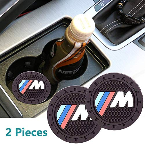 2pcs Cup Holder Insert Coaster for BMW M, for BMW Accessories