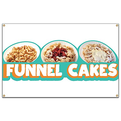 "Funnel Cakes 60"" Banner Concession Stand Food Truck Single Sided"