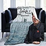 Live Laugh Love Kim Jong Un Throw Blanket Fleece Blanket 50'X40' Light Anti-Pilling Flannel Super Soft Comfortable and Luxurious Bed Flannel Fleece Blanket Throw