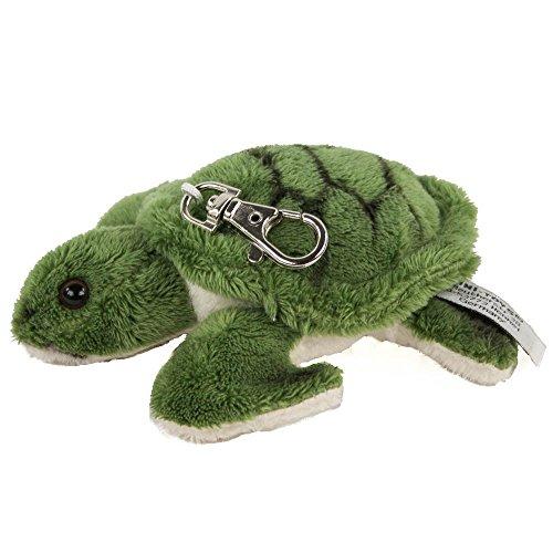 Kuscheltier Schlüsselanhänger Schildkröte 12 cm grün Plüschschildkröte