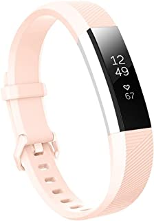 Baaletc Silicone Rubber Replacement Accessory Band/Wristband Bracelet Strap with Buckle for Fitbit Alta/HR/Ace Fitness Tracker