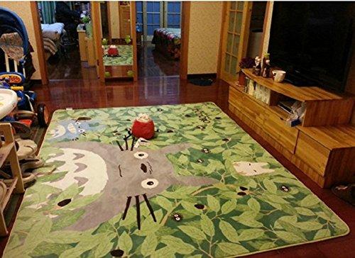 Alfombra grande de dibujos animados TOTORO antideslizante lavable para niños, para sala de estar, cama de 130 cm x 180 cm, 180 cm x 130 cm