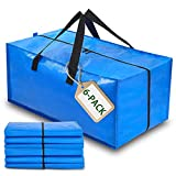 Moving Bags Extra Large Heavy Duty, Uhogo Storage Bags for Blankets and Quilts, with Strong Handles Zippers and Backpack Straps, Packing Storage Totes for Moving Clothes Traveling College (Pack of 6)