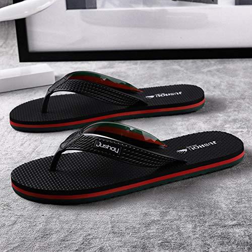 SUNXC Sandals For Men Zapatos de Playa y piscinaSandalias y Pantuflas de Playa-Rojo Verde_44Sandalias Impermeables para Ducha De Punta Abierta Interior De Verano Al Aire Libre