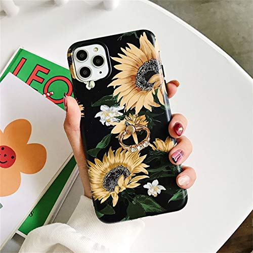 Bakicey iPhone 12 Pro Max Hulle iPhone 12 Pro Max Marmor Handyhulle mit 360 Grad Ring Stander Ultra Dunn Soft Silikon TPU Bumper Stosfest Case Anti kratzt Schutzhulle fur iPhone 12 Pro Max 12