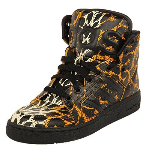 adidas JS Instinct HI Leopard Zapatillas Moda Sneakers Negro Amarillo Unisex Jeremy Scott