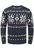 !Solid Norwig Herren Weihnachtspullover Norweger-Pullover Winter Strickpullover Grobstrick Pullover...