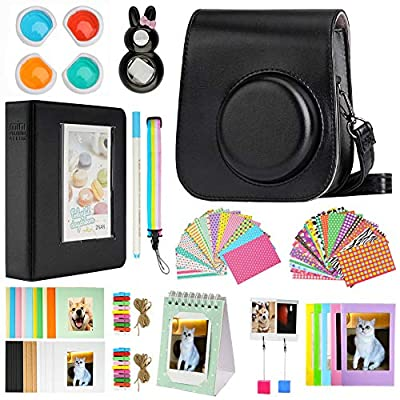Blummy Mini 11 Camera Accessories Bundles Compatible with FujiFilm Instax Mini 11 with Camera Case/Book Album/Selfie Len/Wall Hanging Frames/Stickers/Pen?13 in 1? by Blummy