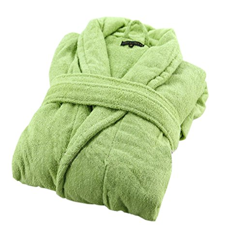 Famous Juggle Cotton Bathrobes Monochrome Bathrobes (Green)