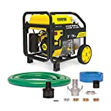 Champion Power Equipment 100743 3-Inch Gas-Powered Semi-Trash Water Transfer Pump with Hose and Wheel Kit