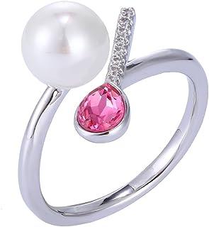 6745c88076f4f8 Xuping cristallo sintetico zircone sintetico perle anello aperto per le  donne
