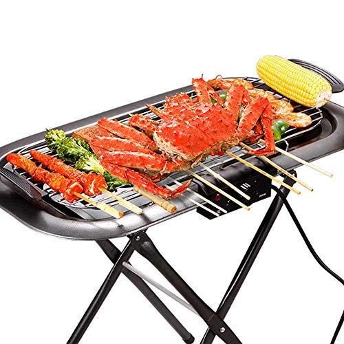 Parrilla Eléctrica Grande Grill Hot Plate Barbacoa Sin Humos con Superficie Extra...