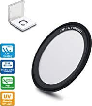 JJC Lens UV Filter for Ricoh GR III GRIII & GR II GRII Attach with Eco-Friendly & Removable 3M Adhesive 99.5% Light Transmission 38 Layers L39 Ultra Slim Multi-Coated -Including Filter Case