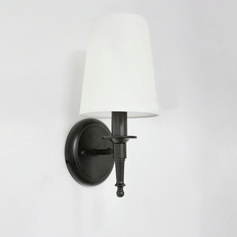 Amerikanische Schmiedeeisenwandlampe, Retro- kreative LED-Bronze dekorative Wandlampe der schwarzen Beleuchtung moderne Wohnzimmerschlafzimmerflur-Nachtwandbeleuchtung (Farbe   Brass)