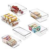 mDesign Juego de 6 cajas de almacenaje para nevera o congelador – Envases de...