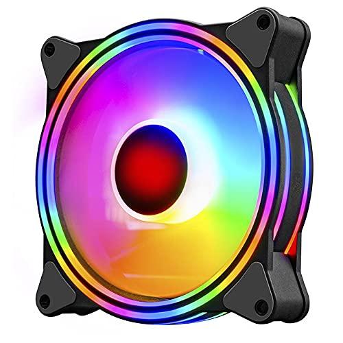 US1984 Superflow 120 Auto RGB Fans 120mm RGB Case Fans, Dual Light Loop RGB LED Fans, RGB Gaming PC Fans, Quiet Cooling Computer Fans (Fan-3)