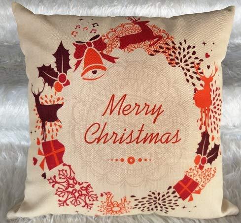 Elegantes Fundas Almohada Fundas cojín Reno Navidad Almohadas Navidad 18x18 Pulgadas Decoración del hogar 18 '2 uds.